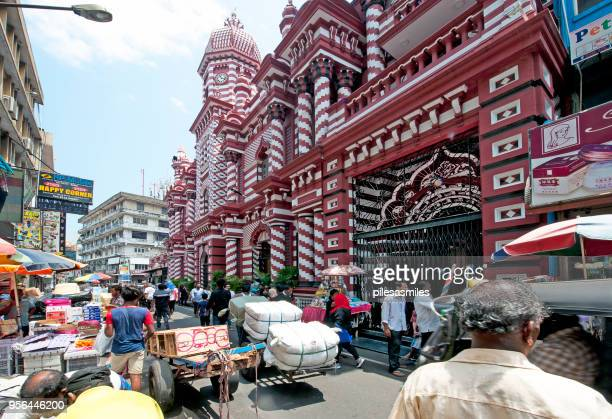 mosque and market, pettah, fort, colombo, sri lanka - islamabad stock pictures, royalty-free photos & images