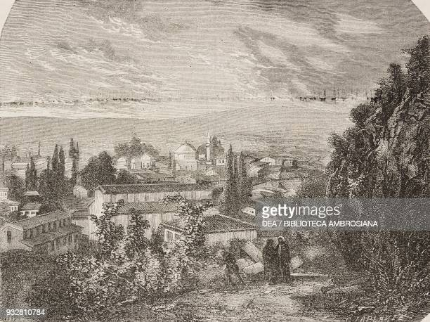 Mosque and tomb of Sultan Murad Bursa Turkey from Voyage from Constantinople to Ephesus through Asia Minor Bithynia Phrygia Lydia Ionia by Count...