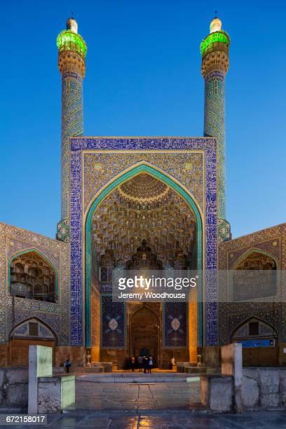 Mosque at dusk, Isfahan, Iran,
