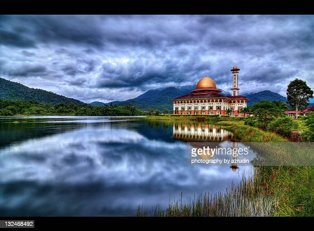 Mosque at morning with fine reflection