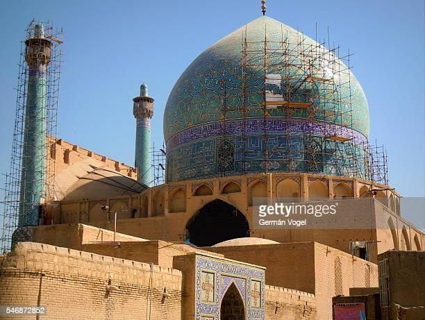 mosque backdoor - imam mosque of isfahan, iran - イマームホメイニ広場 ストックフォトと画像
