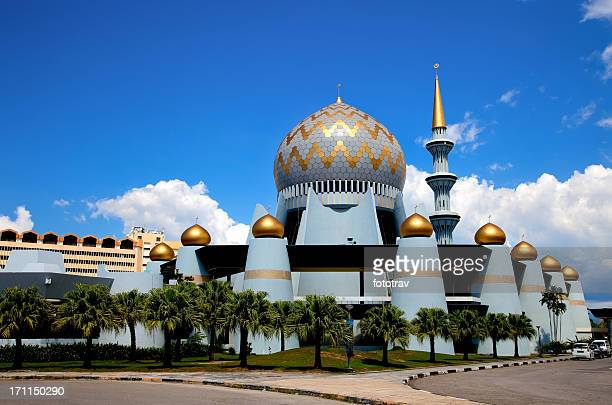 mosque dome, borneo, malaysia - kota kinabalu stock pictures, royalty-free photos & images