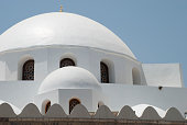 white mosque dome damascus syria