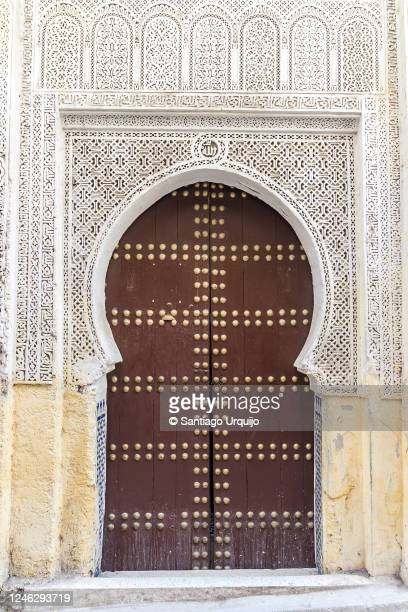 mosque door in fez - north africa stock pictures, royalty-free photos & images