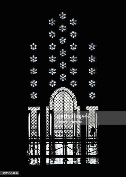 Mosque door silhouette.