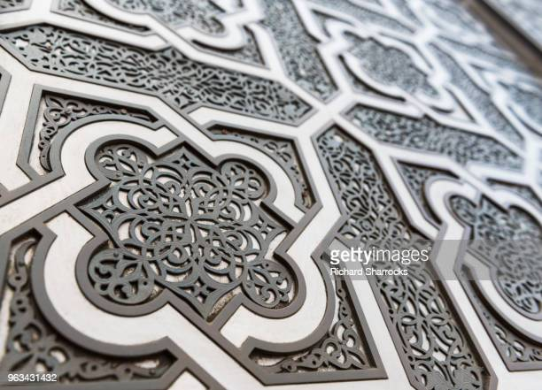 mosque door with selective focus - islam stock pictures, royalty-free photos & images