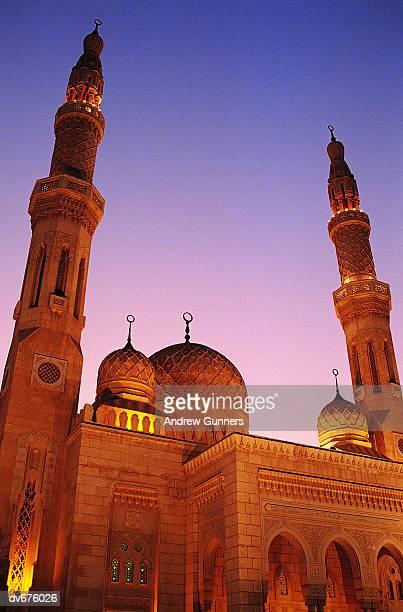 mosque, dubai, united arab emirates - mosque stock photos and pictures