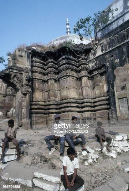 Mosquée Gyanvapi le 15 décembre 1991 à Varanasi/Bénarès en Inde.