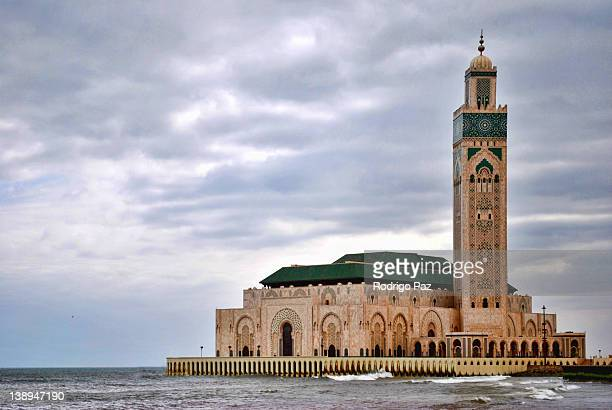 mosque hassan ii - mosque hassan ii stock photos and pictures