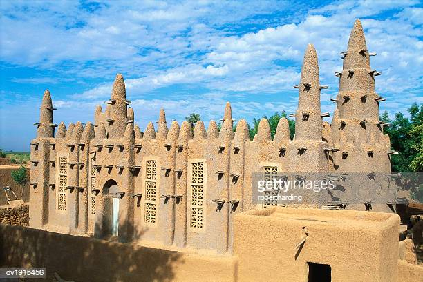 mosque in bozo, mopti, mali, africa - mali stock pictures, royalty-free photos & images