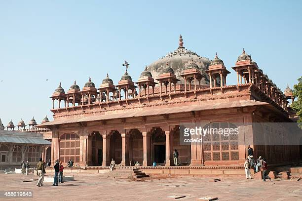 mosque in fatehpur sikri, india - agra jama masjid mosque stockfoto's en -beelden