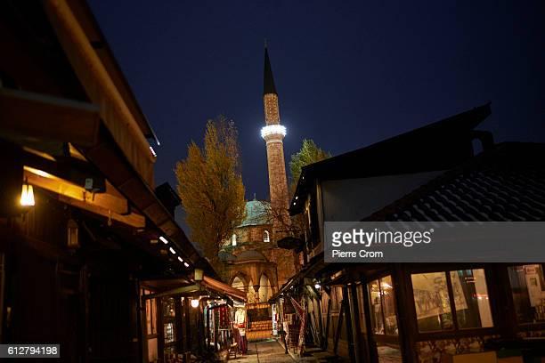 Mosque in the Bascarsija bazaar on November 23, 2015 in Sarajevo, Bosnia and Herzegovina.