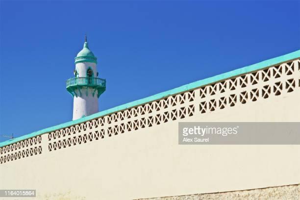 mosque minaret, djibouti city - djibouti stock pictures, royalty-free photos & images