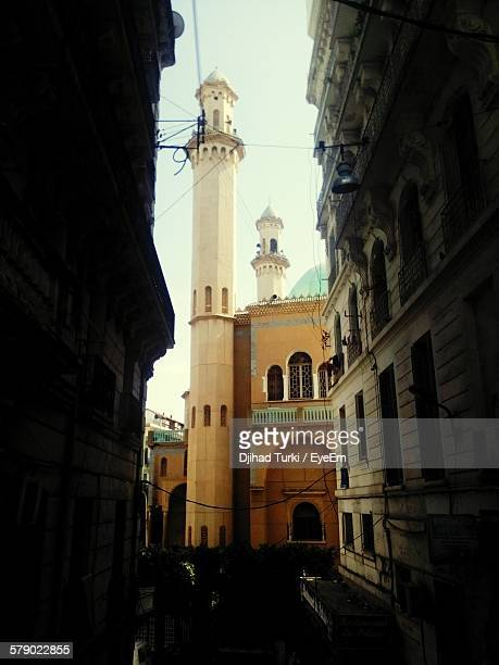 Mosque Minaret Seen From Alley