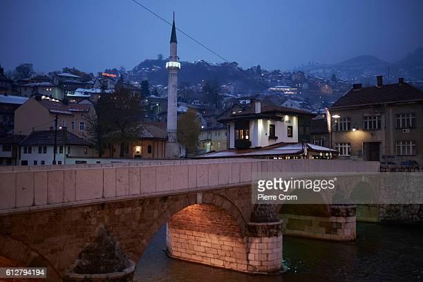 Mosque near the Bascarsija bazaar on November 23, 2015 in Sarajevo, Bosnia and Herzegovina.