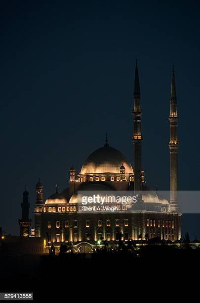 Mosque of Mohammed Ali at night