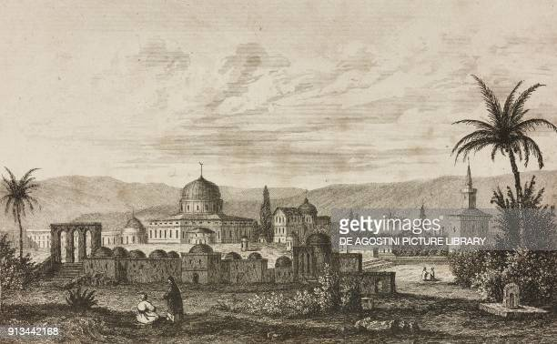 Mosque of Omar in Jerusalem Israel engraving by Lemaitre and Venderburch from Arabie by Noel Desvergers avec une carte de l'Arabie et note by Jomard...