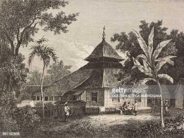 Mosque on Ambon island drawing by Sorrieu from The Malay Archipelago 18611862 by Alfred Russell Wallace from Il Giro del mondo Journal of geography...