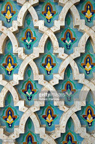 Mosque tiles, King Hassan Mosque