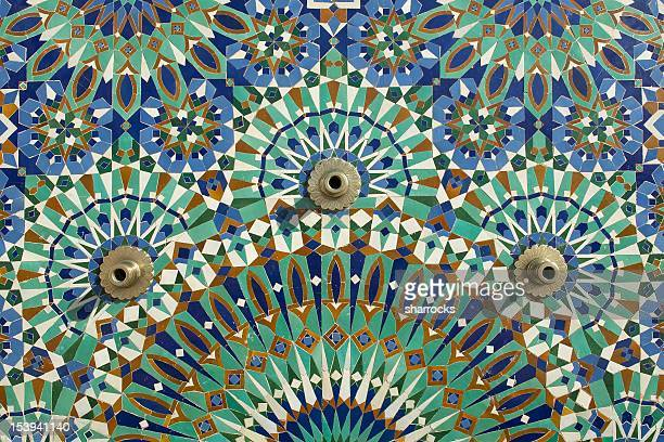 mosque tiles - casablanca stock pictures, royalty-free photos & images