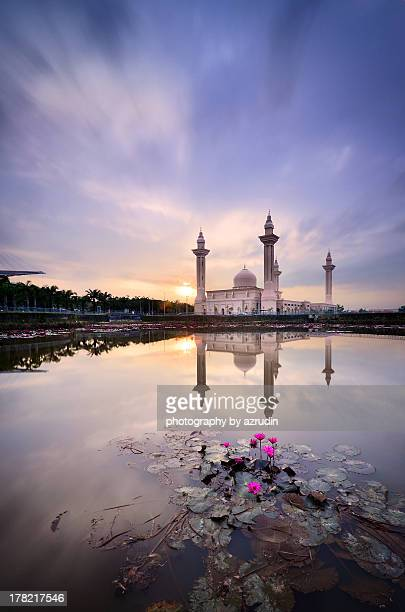 Mosque view over the lake