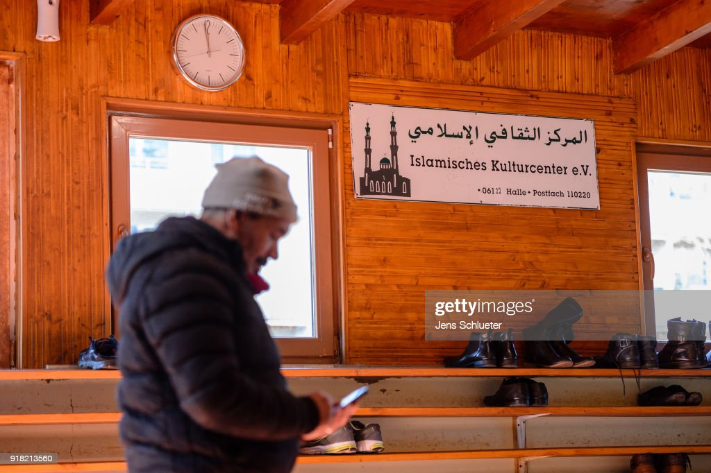 A mosque visitor stands in the Muslim cultural center and mosque as Aydan Ozoguz (not pictured), German Federal Commissioner for Immigration, Refugees and Integration visits the center and mosque following a recent attack on February 14, 2018 in Halle an der Saale, Germany. Shots possibly fired with an air gun from a nearby building injured a mosque member earlier this month, only a week after a similar incident. The center has been the target of attacks since 2015 in a city that struggles with right-wing extremism, which has become more virulent since over a million mostly Muslim refugees and migrants came to Germany in 2015-2016.
