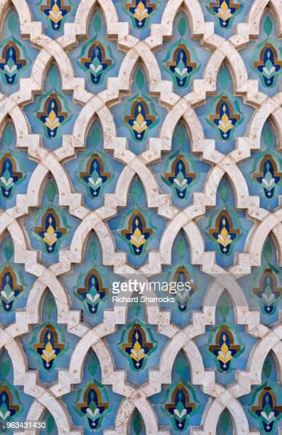 Mosque wall tiles - Hassan II Mosque, Casablanca, Morocco