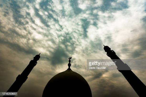 mosque with tower - mosque stock pictures, royalty-free photos & images