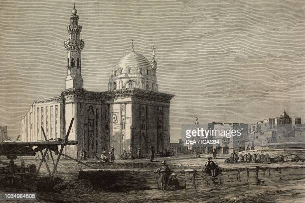 MosqueMadrasa of Sultan Hassan Cairo Egypt engraving from The Illustrated London News No 2214 October 22 1881
