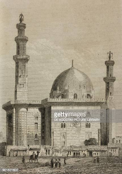MosqueMadrassa of Sultan Hassan Cairo Egypt engraving by Lemaitre from Egypte depuis la conquete des Arabes jusque a la domination francaise by...