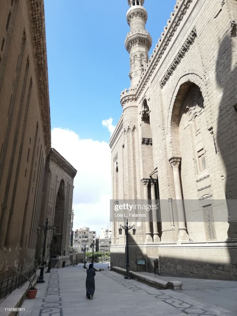 Mosque-Madrassa of Sultan Hassan, Cairo : Foto de stock