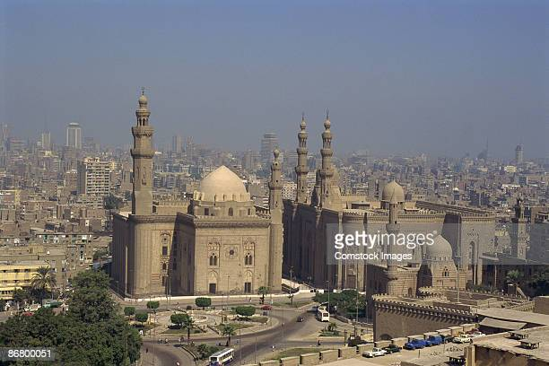 mosques - sultan hassan mosque stock pictures, royalty-free photos & images
