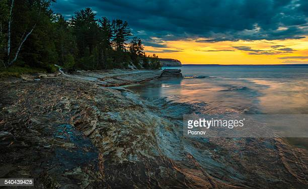 mosquito beach - munising michigan stock pictures, royalty-free photos & images