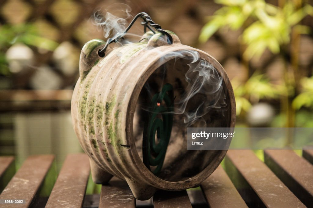 Mosquito coils are pig-type pottery To be in. : Stock Photo