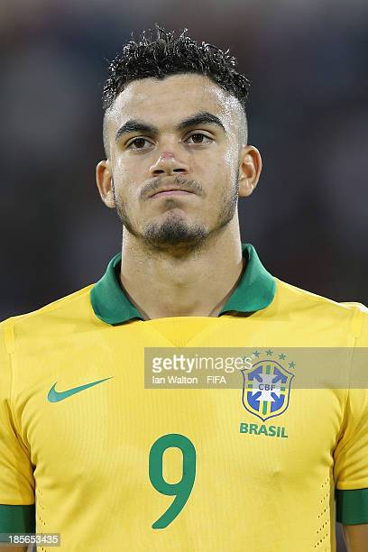 Mosquito of Brazil during the Group A FIFA U17 World Cup match between Honduras and Brazil at Ras Al Khaimah Stadium on October 23 2013 in Ras al...