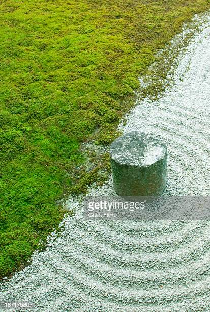 Moss and sand garden