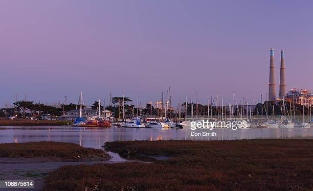 moss landing harbor - don smith stock pictures, royalty-free photos & images