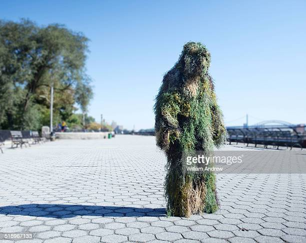 Moss monster in urban landscape