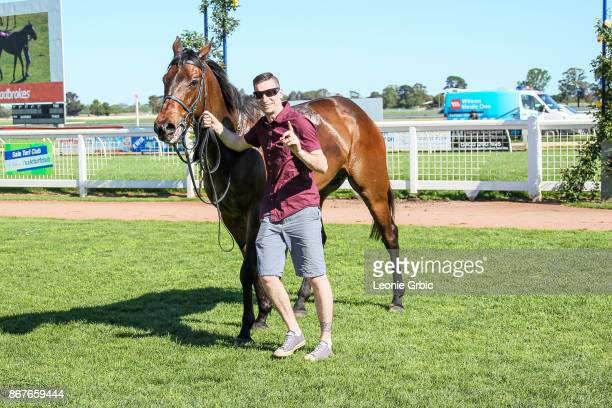 Moss 'n' Dale after winning the Ladbrokes Sale Cup at Sale Racecourse on October 29 2017 in Sale Australia
