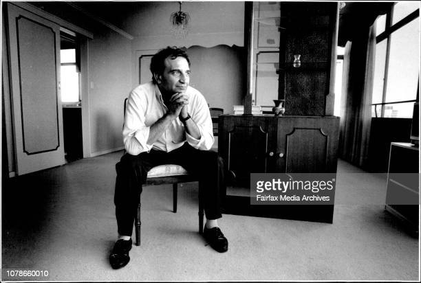 Mossad agent Ari Ben-Menashe who is fighting the Australian government against his deporation.Taken at Darling point Apartment. February 15, 1992. .