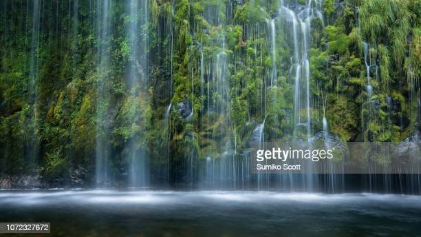 mossbrae falls, dunsmuir, ca - mt shasta stock pictures, royalty-free photos & images