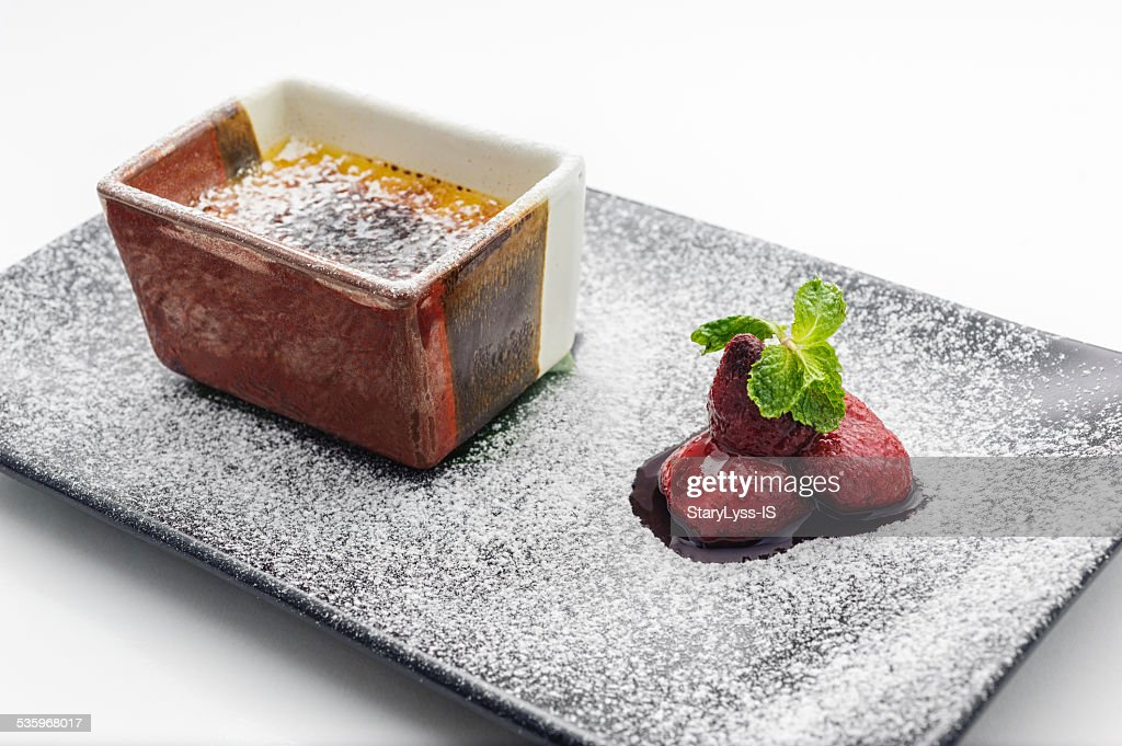 Mosse dessert with berries : Stock Photo