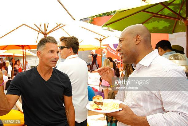 Mossimo Giannulli and Byron Allen attend 6th Annual Kidstock Music And Arts Festival Sponsored By Hudson Jeans at Greystone Mansion on June 3 2012 in...