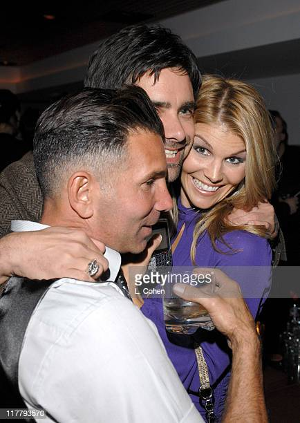 Mossimo Giannulli John Stamos and Lori Loughlin during Target Hosts LA Fashion Week Party for Designer Mossimo Giannulli Inside at Area in West...