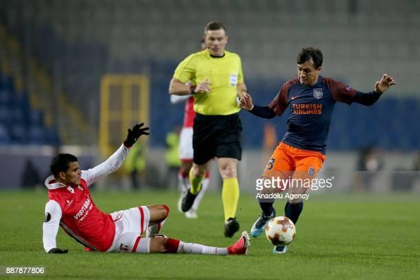 Mossoro of Medipol Basaksehir in action during UEFA Europa League Group C soccer match between Medipol Basaksehir and Braga at the Fatih Terim...