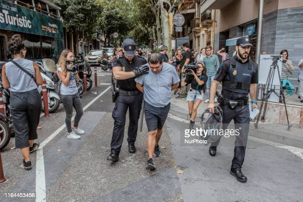 Mossos and National Police identify 70 repeat pickpockets in the subway in just two hours on 27 August 2019 in Barcelona Spain