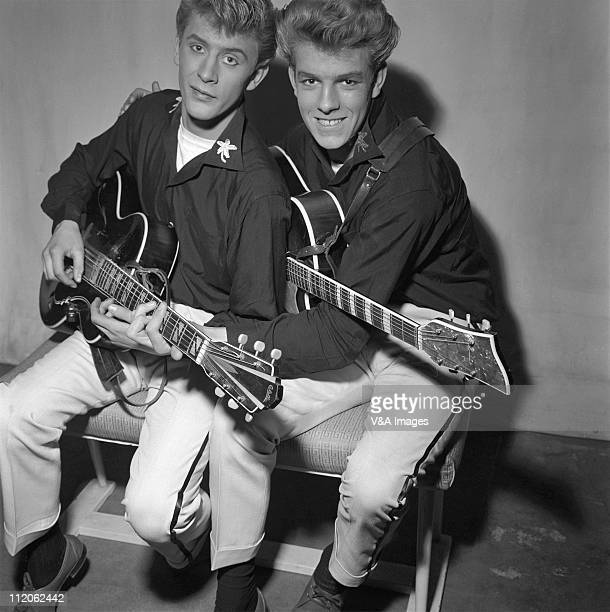 Most Brothers Mickie Most and Alex Wharton posed group shot 1957