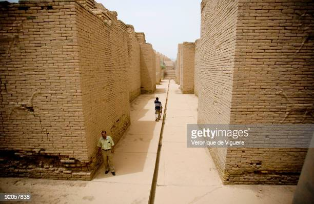 Most of Babylon was rebuilt by Saddam Hussein on its old foundations but pictured here is the original Ishtar gate The Iraqis have accused the US...