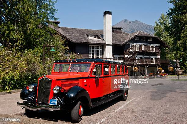 Red Jammer Bus at Lake McDonald Lodge