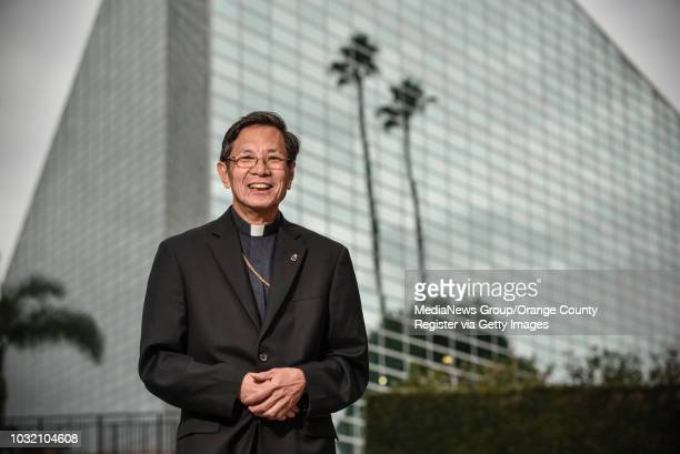 Most Rev Thanh Thai Nguyen the auxiliary bishop of the Diocese of Orange at Christ Cathedral in Garden Grove on Friday Jan 19 2018 Nguyen is the...